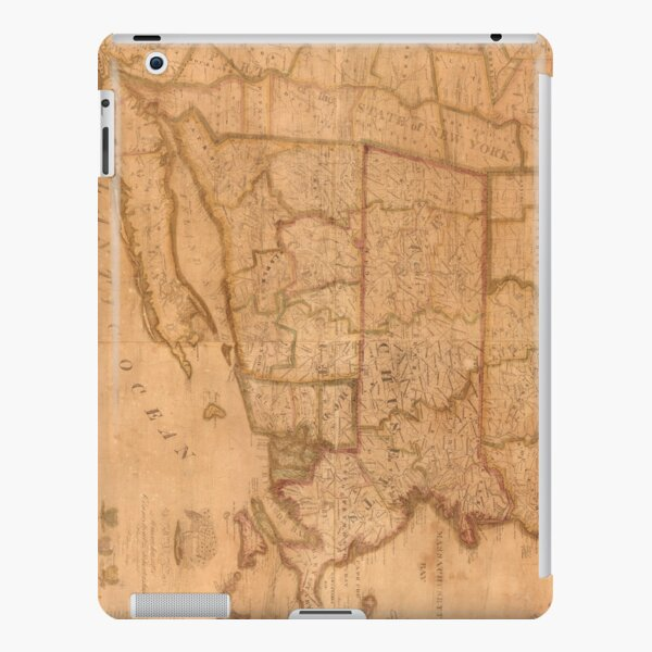 Vintage Map of New England States (1843) iPad Snap Case