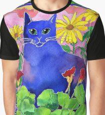 Sunset Cat Graphic T-Shirt