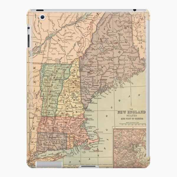 Vintage Map of New England (1880) iPad Snap Case