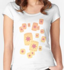 Floating Lanterns Gleam Women's Fitted Scoop T-Shirt