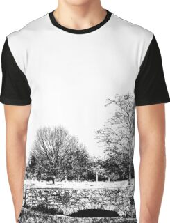 Black and White Trees Graphic T-Shirt