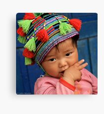 H'mong child... Canvas Print