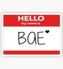 Hello My Name Is Bae Sticker