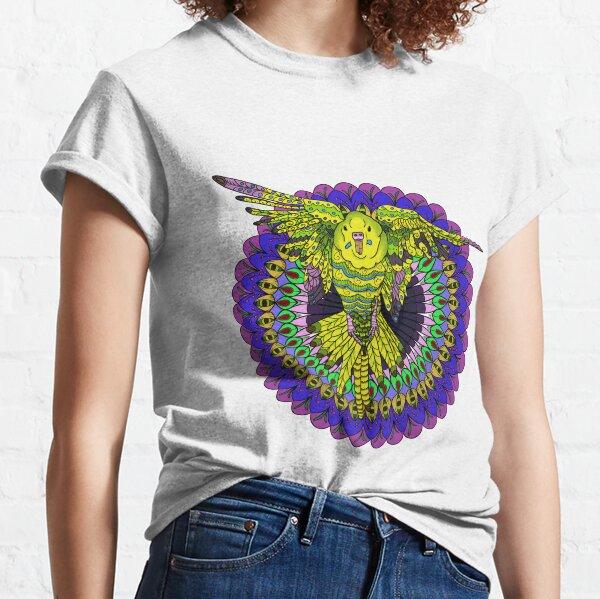 Flying Budgie Mandala Classic T-Shirt