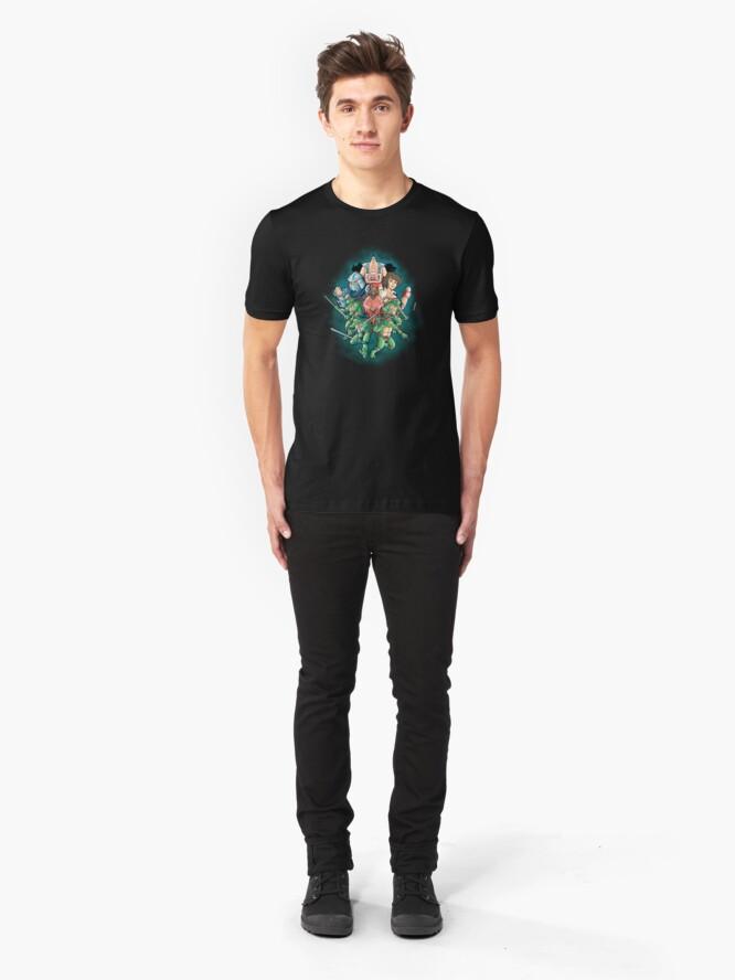 Vista alternativa de Camiseta ajustada Cowabunga