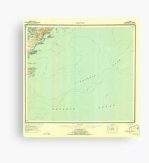 USGS TOPO Map Alaska AK Kaguyak 360995 1952 250000 Canvas Print