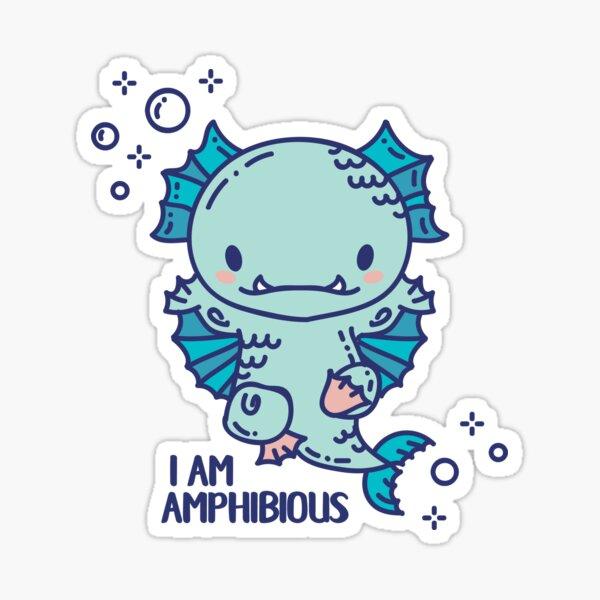 Cute Amphibious monster swimmer Sticker