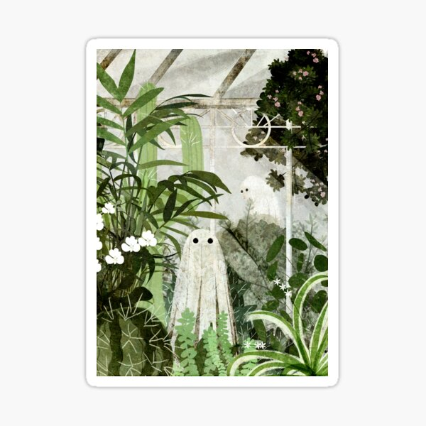 There's A Ghost in the Greenhouse Again Sticker