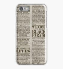 mcr tbp lyrics iPhone Case/Skin