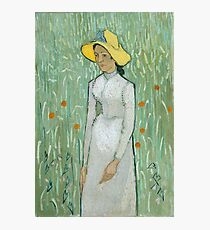 Girl In White - Vincent van Gogh Photographic Print