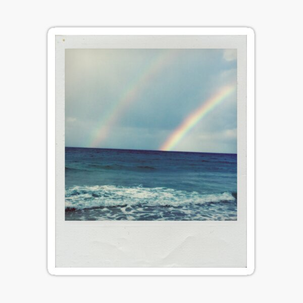 Double Rainbow Polaroid Sticker