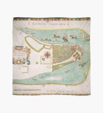 Pañuelo Mapa histórico de la ciudad de Nueva York (1664)