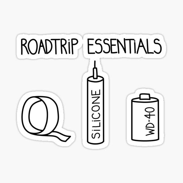 Roadtrip essentials Sticker