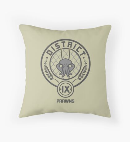 Prawn District (HG Parody) Throw Pillow