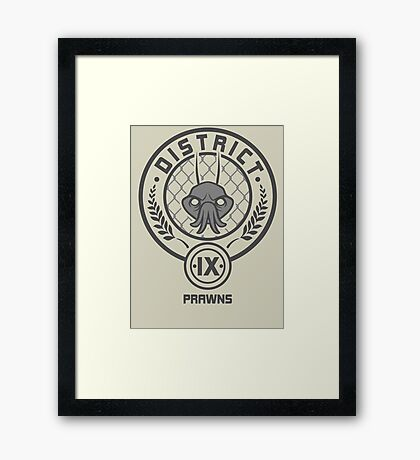 Prawn District (HG Parody) Framed Print