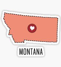 Montana State Heart Sticker