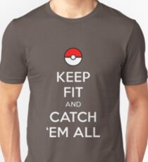 Pokemon Keep Fit and Catch 'em All T-Shirt