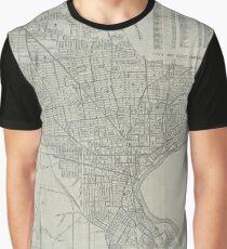Vintage Map of Newark NJ (1920) Graphic T-Shirt
