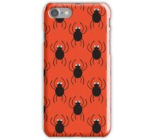 Halloween spiders simple pattern. Cute seamless background.  iPhone Case/Skin