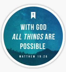 Matthew 19:26 Sticker