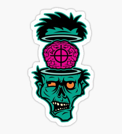 Shoot 'em in da Head Bro! Sticker