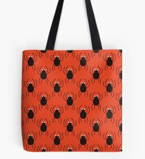 Halloween spiders simple pattern. Cute seamless background.  Tote Bag