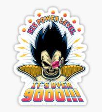 Over 9000! Sticker