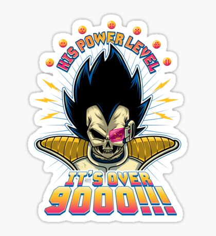 Over 9000! Sticker