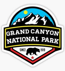 GRAND CANYON NATIONAL PARK ARIZONA MOUNTAINS HIKING CAMPING HIKE CAMP 1919 Sticker