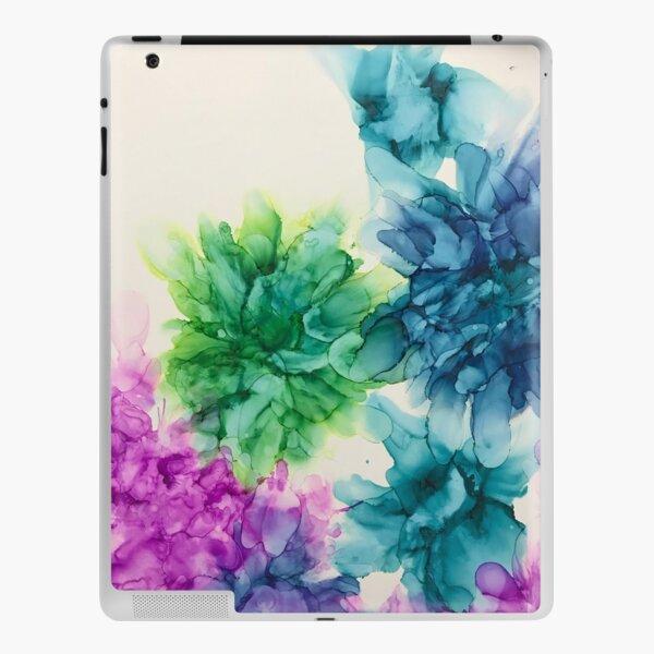 Springtime Harmony - sapphire blue, magenta , turquoise , peacock green iPad Skin