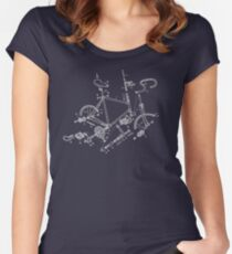 Bike addict Women's Fitted Scoop T-Shirt