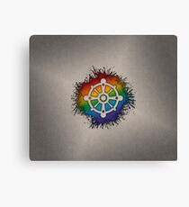 LGBT Buddhist Wheel of Dharma  Canvas Print
