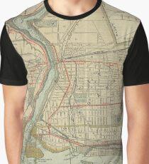 Vintage Map of Niagara Falls NY (1893) Graphic T-Shirt