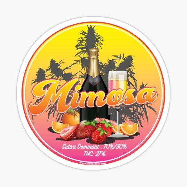 Mimosa Cannabis Strain art  Sticker