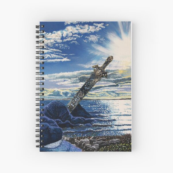 Amazon Gold Sword in the Stone Sea Sunburst Spiral Notebook
