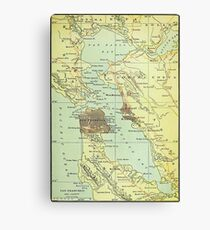 Vintage Map of San Francisco California (1905) Canvas Print