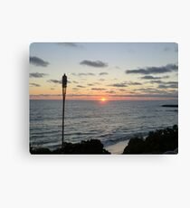 Mid -Summer Tiki Set Canvas Print