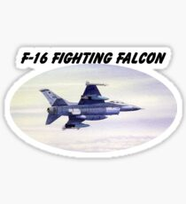 F-16 Fighting Falcon With Banner Sticker