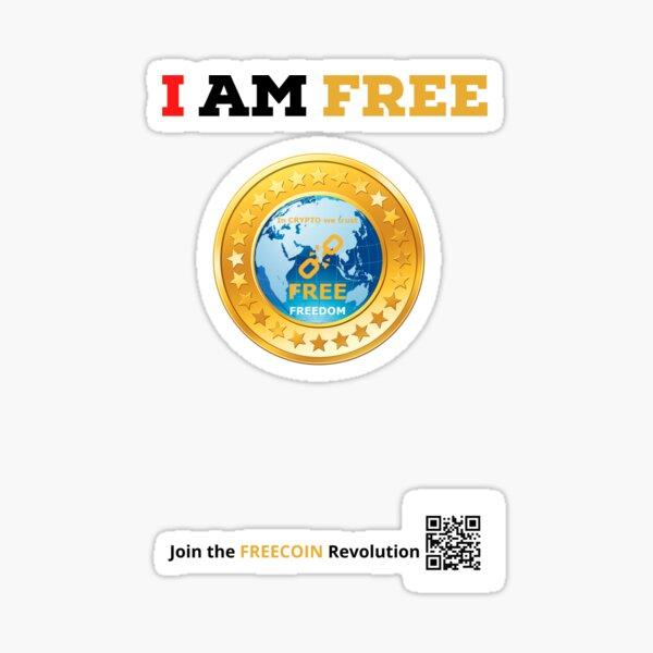 I AM FREE, FREECoin Sticker