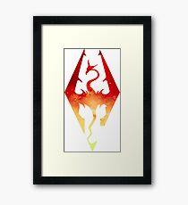 Skyrim Logo - Red Gradient Framed Print