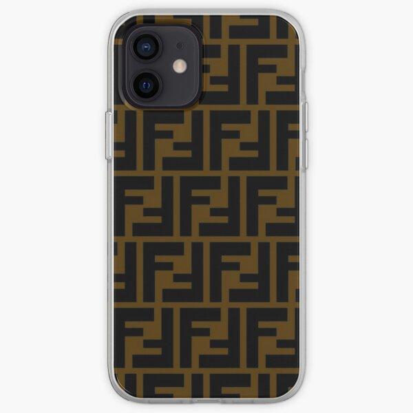 Luxury Brown Fendi Monogram Original iPhone Soft Case