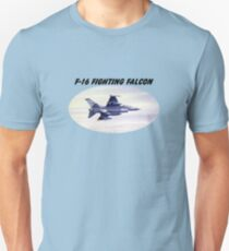 F-16 Fighting Falcon With Banner Unisex T-Shirt