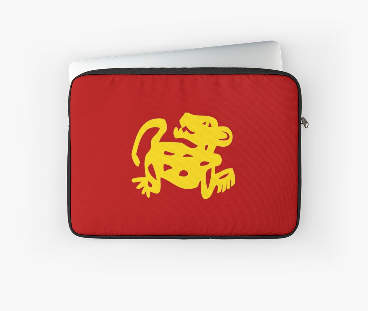 red jaguars legends of the hidden temple shirt laptop sleeves by