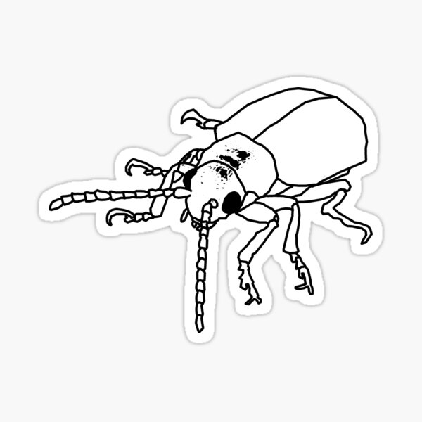 Dessert Insect (Inverted Metal Punk theme) Sticker