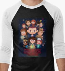 Stranger Things Cartoon Men's Baseball ¾ T-Shirt