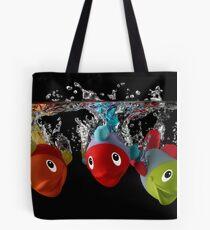 Three Toy Fish With Splash Tote Bag