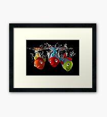 Three Toy Fish With Splash Framed Print