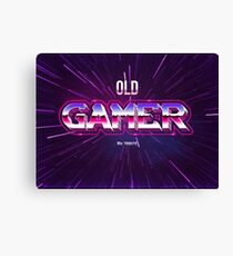old gamer 80s tribute arcade game | Pop Culture Art Canvas Print