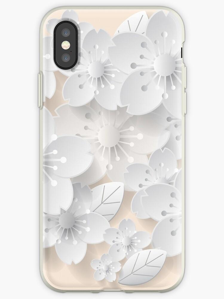 Paper Art Flower Background Origami Flower Vector Stock Iphone