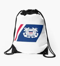 Racing Stripe of the United States Coast Coast Guard Auxilary Drawstring Bag